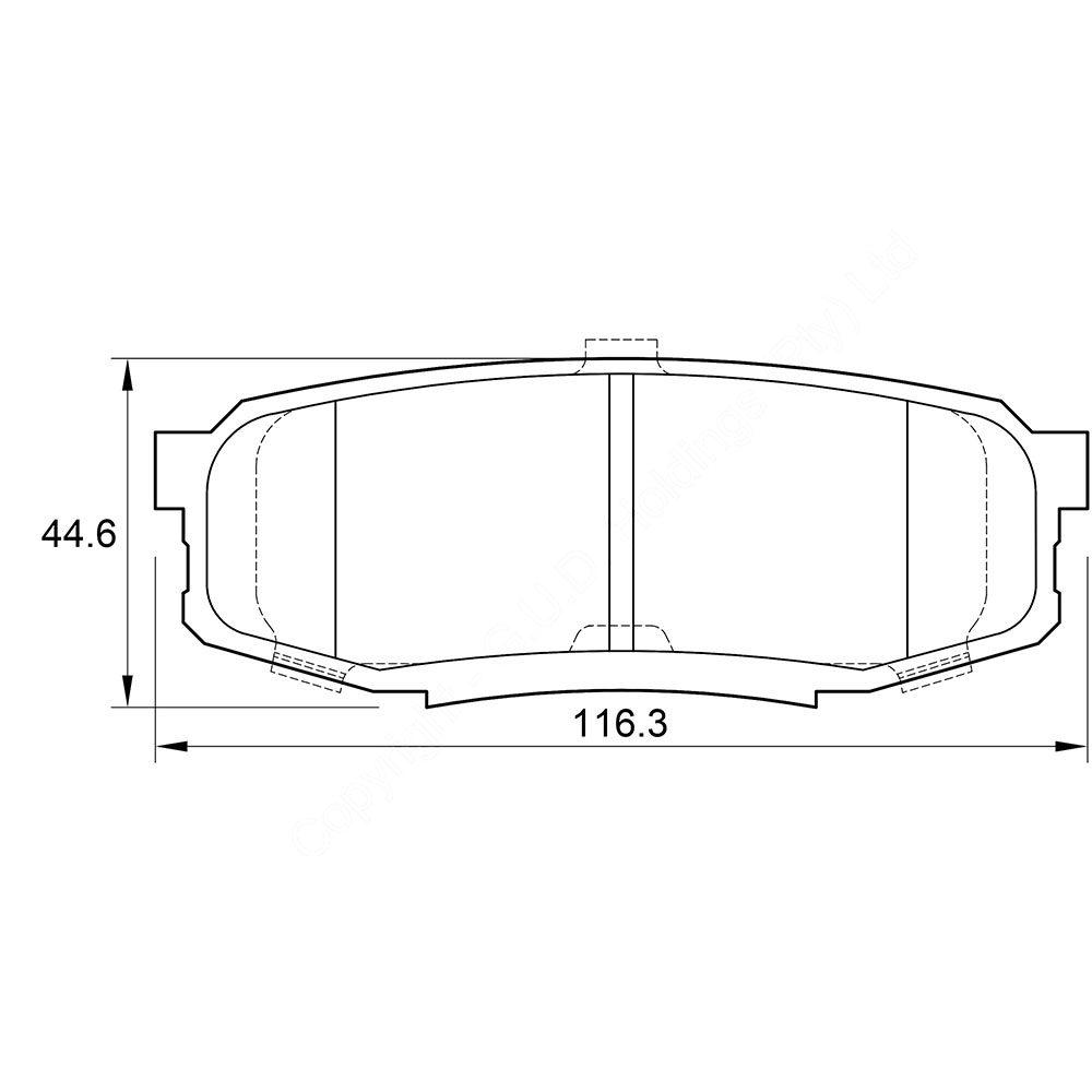 KBC Brake Pads (REAR) for Toyota 1