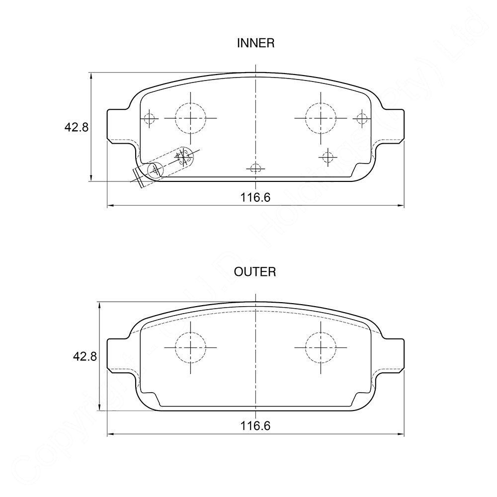 KBC Brake Pads (REAR) for Chev 1