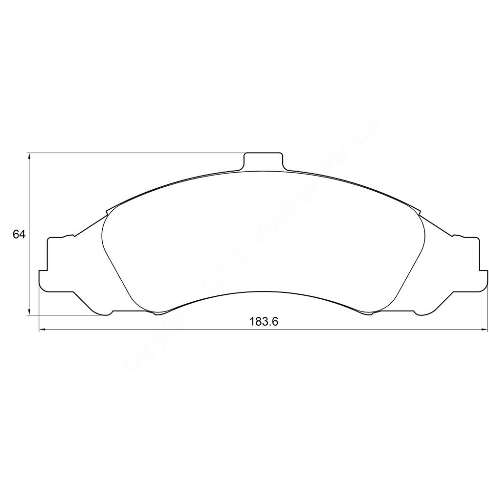 KBC Brake Pads (FRONT) for Chevrolet 1