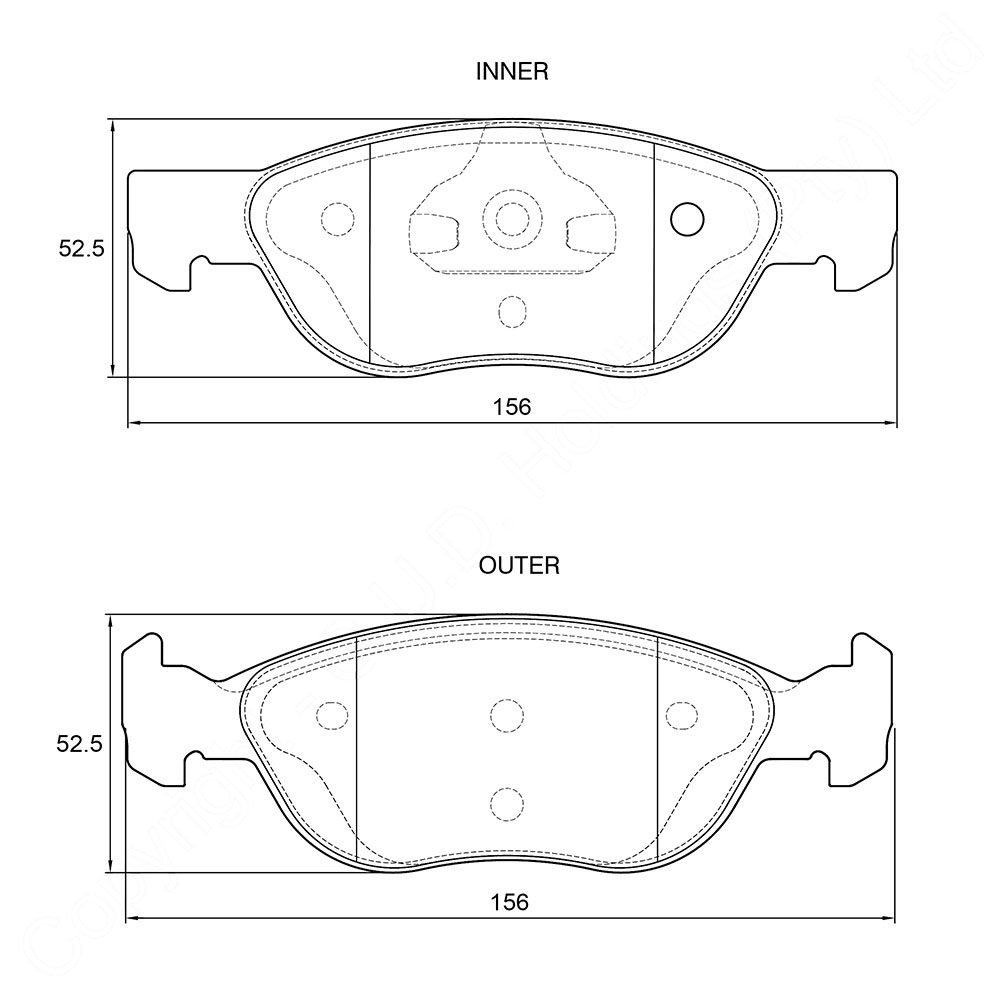 KBC Brake Pads (FRONT) for Fiat 1