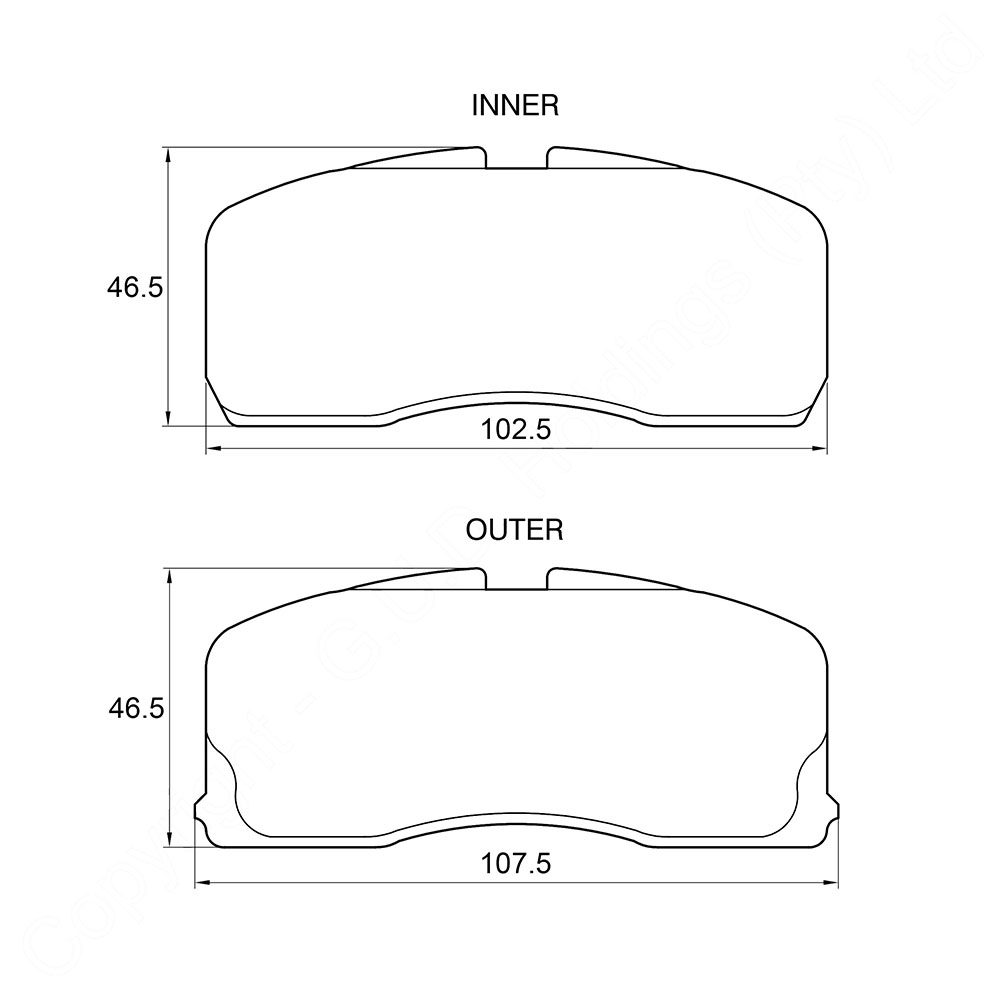 KBC Brake Pads (FRONT) for Geely 1