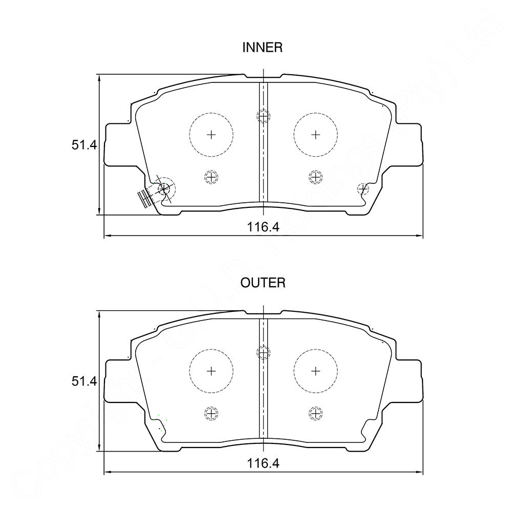 KBC Brake Pads (FRONT) for GWM 1