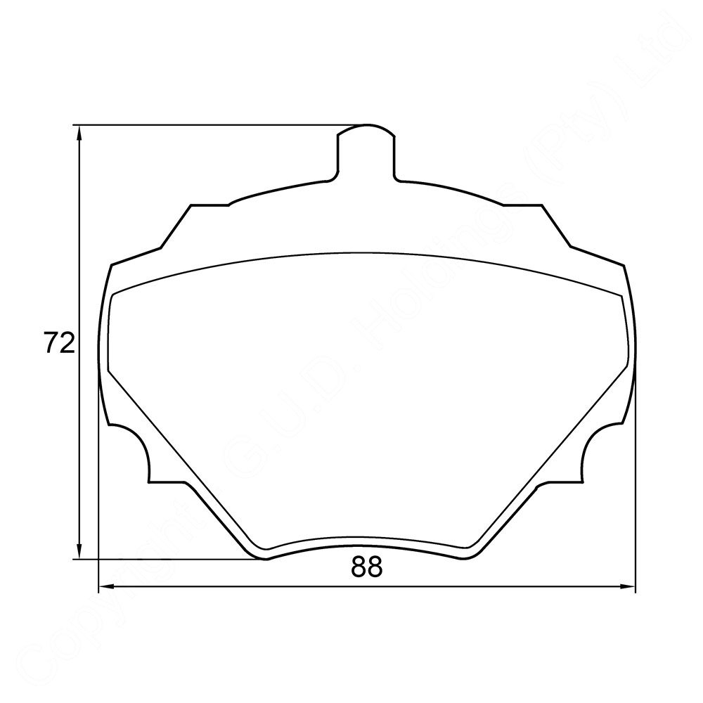 KBC Brake Pads (REAR) for Landrover 1