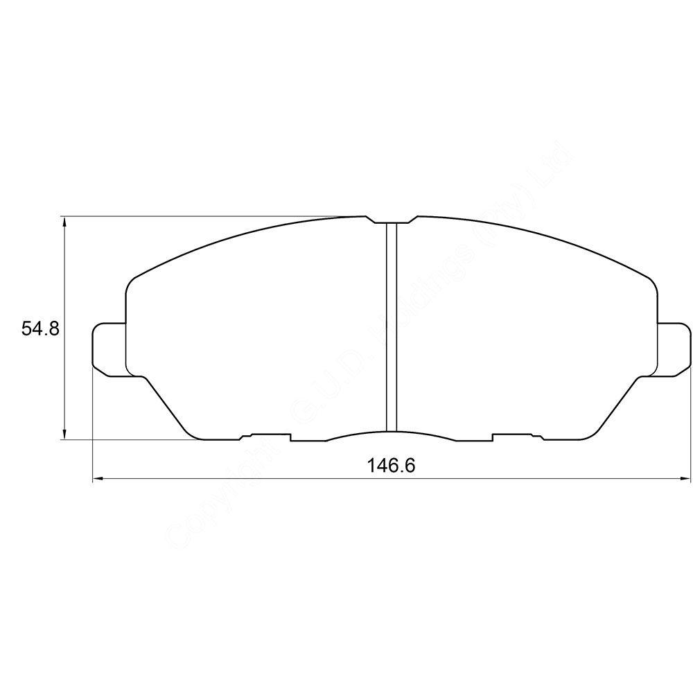 KBC Brake Pads (FRONT) for Mahindra 1