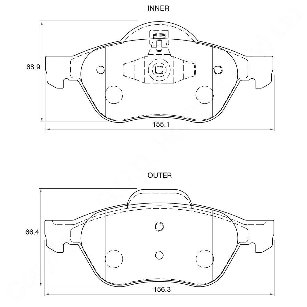 KBC Brake Pads (FRONT) for Renault 1