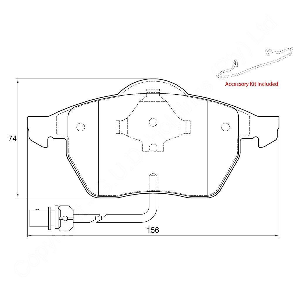 KBC Brake Pads (FRONT) for VW Sharan D3914 1
