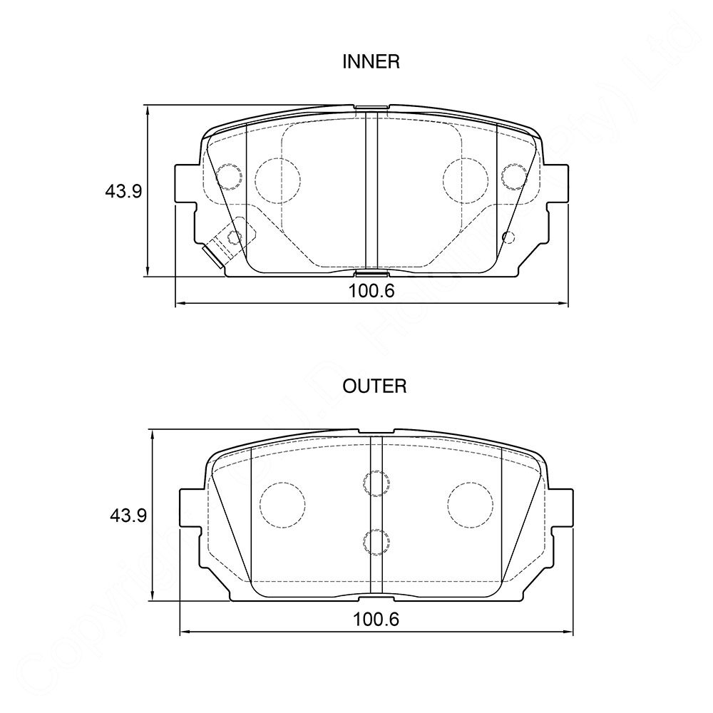 KBC Brake Pads (REAR) for Kia Carens 1