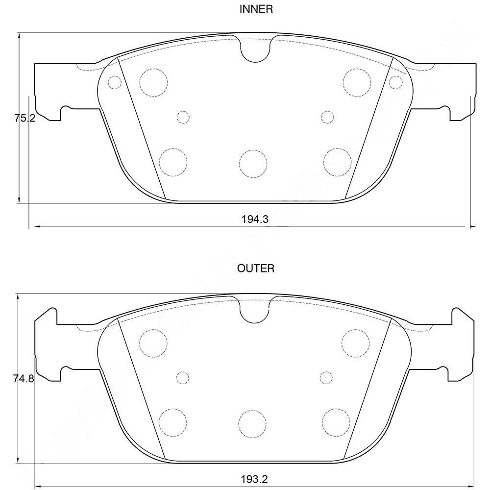 KBC Brake Pads (FRONT) for Volvo 1