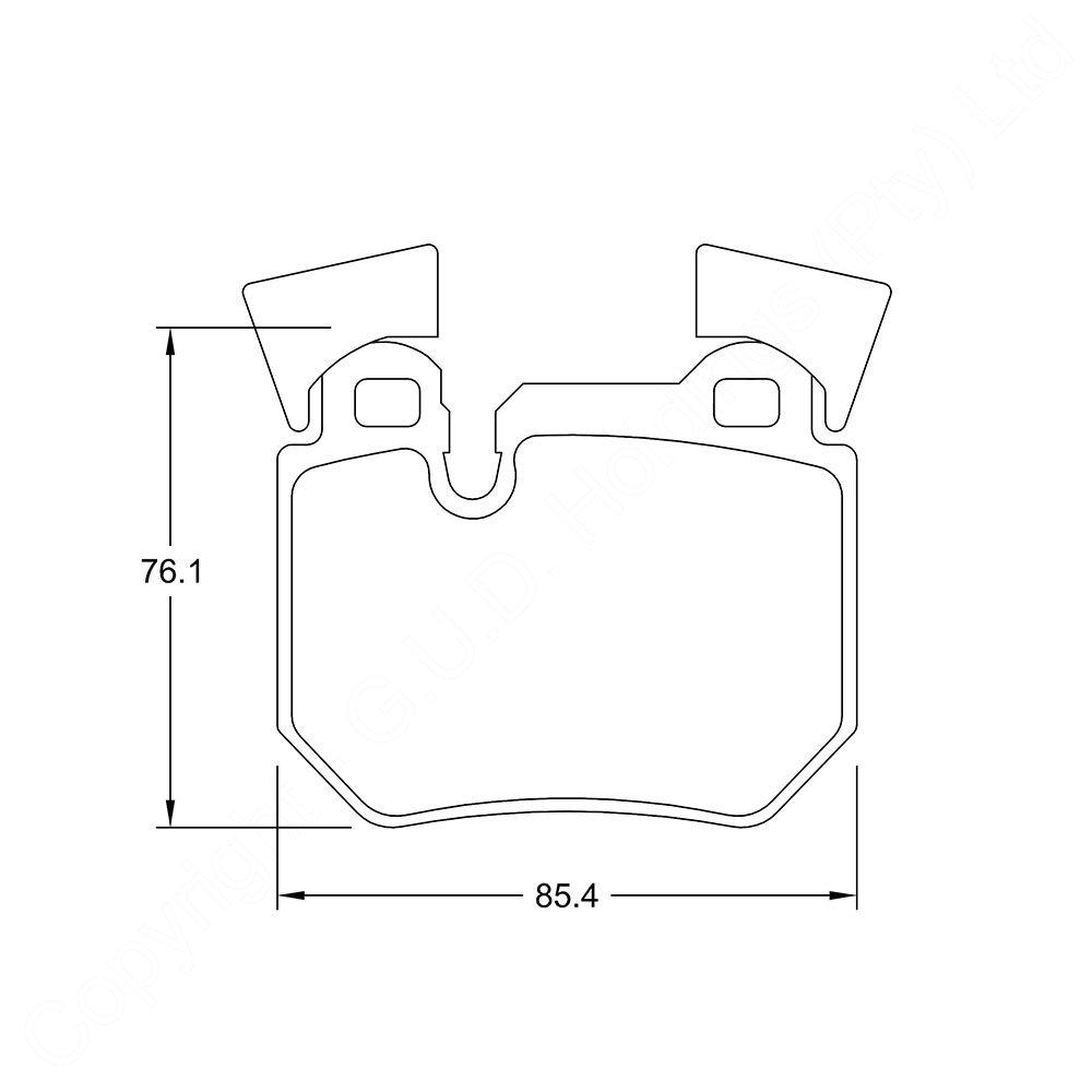 KBC Brake Pads (REAR) for BMW 1