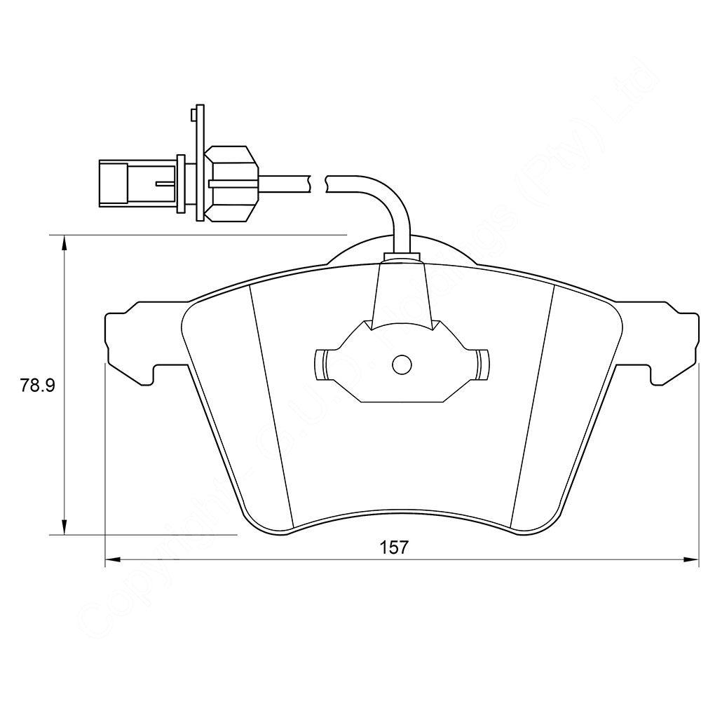 KBC Brake Pads (FRONT) for VW Caravelle D3939 1