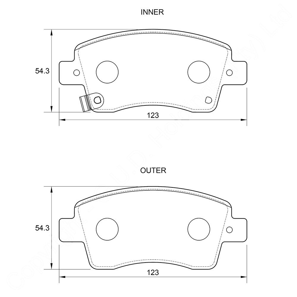 KBC Brake Pads (FRONT) for Kia Picanto 1