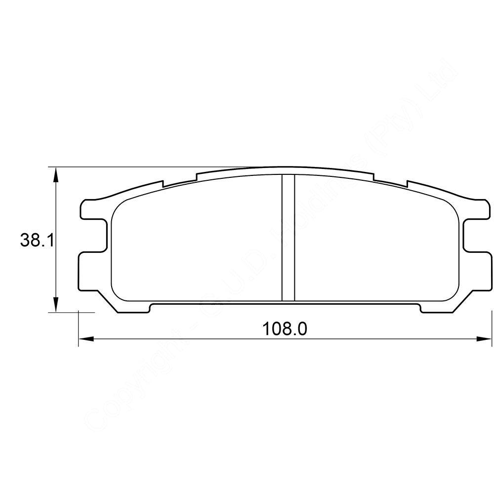 KBC Brake Pads (FRONT) for Subaru 1