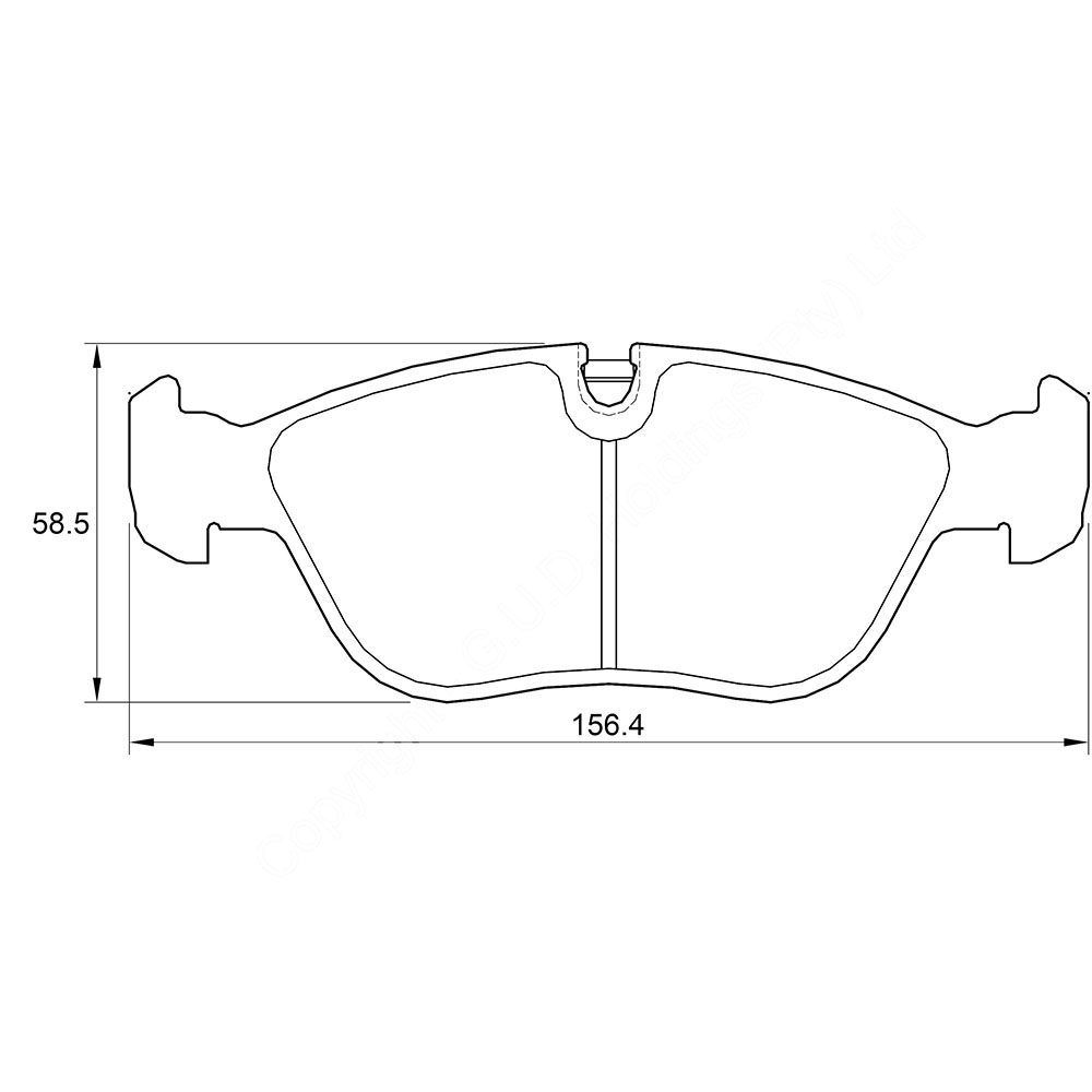 KBC Brake Pads (REAR) for Volvo 1