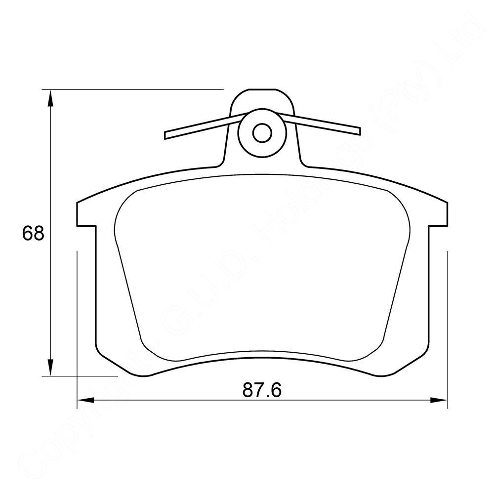 KBC Brake Pads (FRONT) for Audi 1