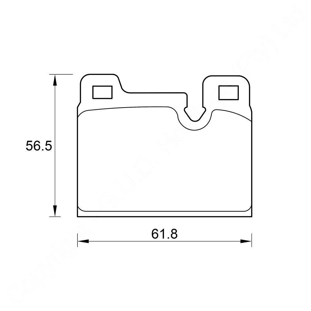 KBC Brake Pads (REAR) for Alfa 1
