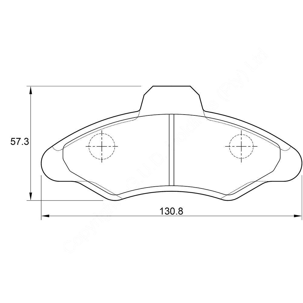 KBC Brake Pads (FRONT) for Ford Escort 1