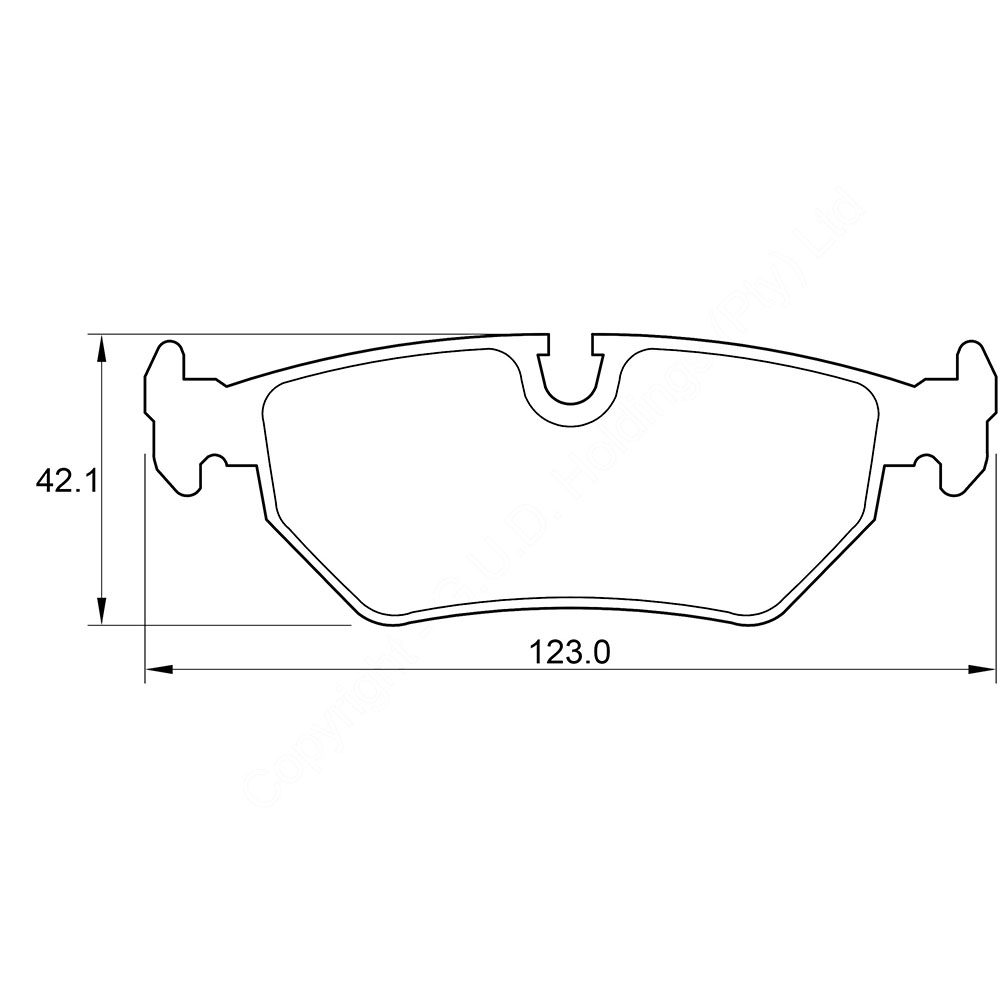 KBC Brake Pads (REAR) for Peugeot,Fiat 1