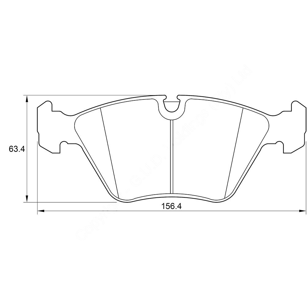 KBC Brake Pads (FRONT) for Jaguar #D4051 1