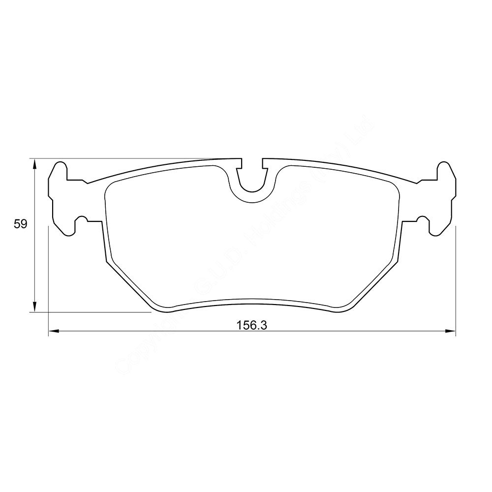 KBC Brake Pads (FRONT) for Volvo #D4052 1