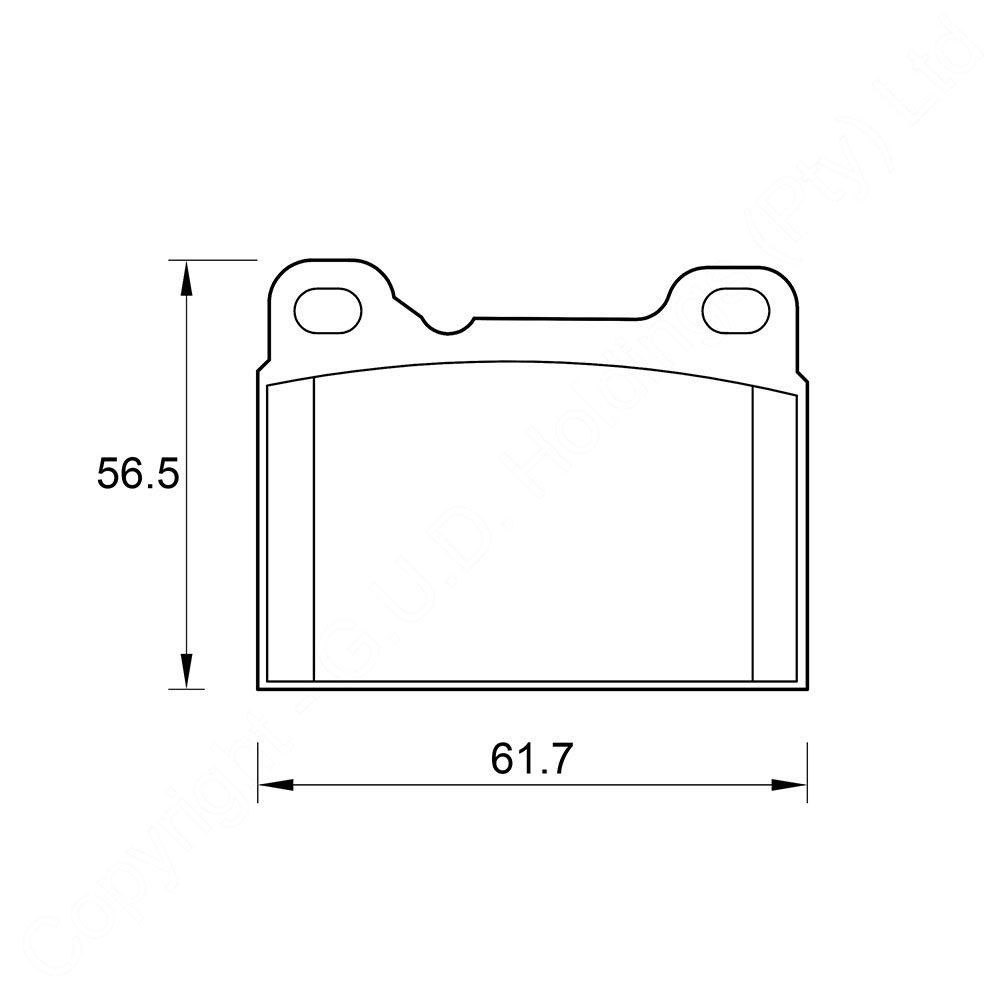 KBC Brake Pads (REAR) for Volvo #D4053 1