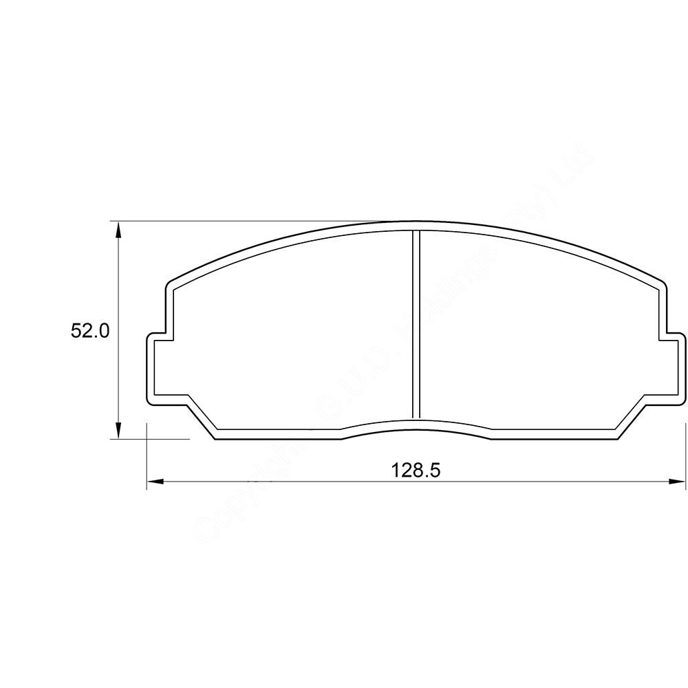 KBC Brake Pads (front) for Mazda 1