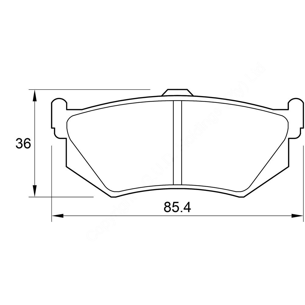 KBC Brake Pads (front) for Honda Prelude 1