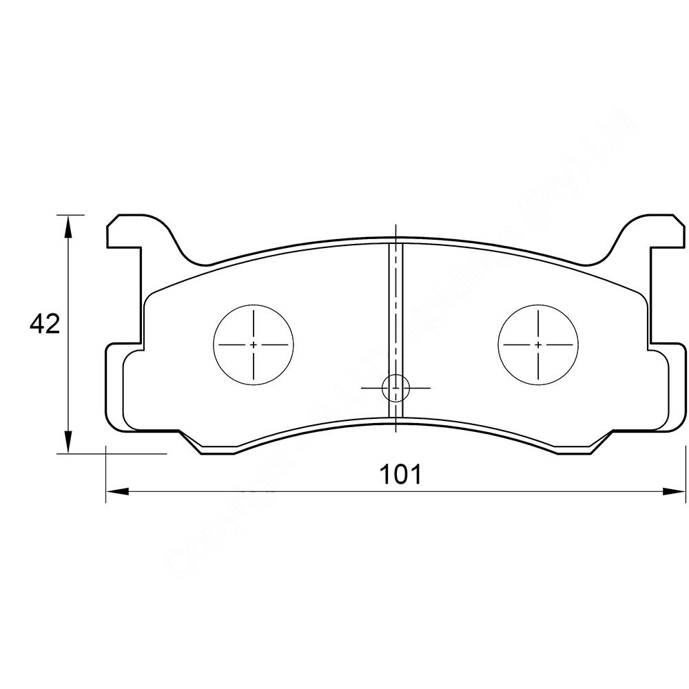 KBC Brake Pads (front) for Daihatsu,Ford Laser,Ford Meteor,Mazda 1