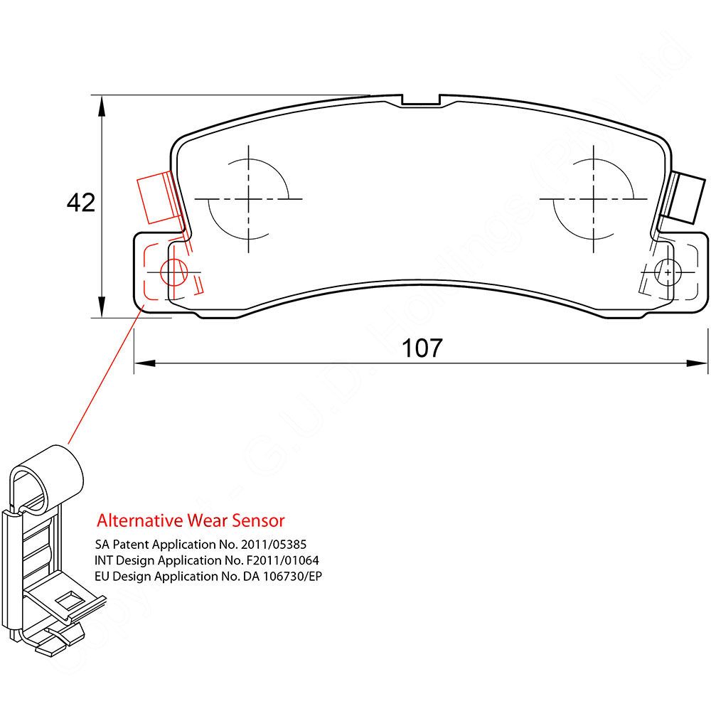 KBC Brake Pads (front) for Toyota Conquest,Toyota Corolla,Toyota Avante 1