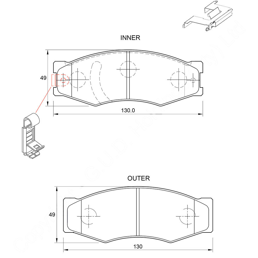 KBC Brake Pads (front) for Ford Courier,Isuzu KB,Isuzu KB,Isuzu KB,Nissan,Nissan Skyline,Nissan Skyline,Opel Record 1