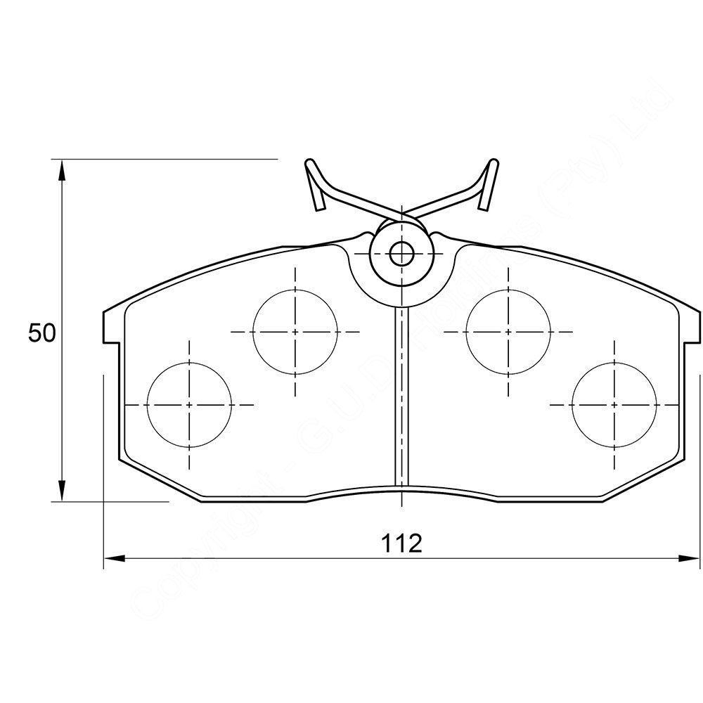KBC Brake Pads (front) for Nissan Ford Courier,Mazda 1