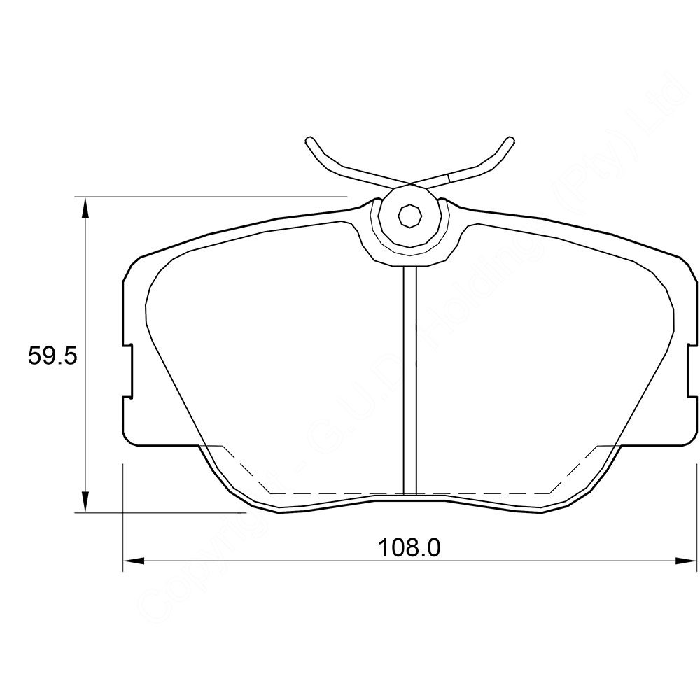 KBC Brake Pads (front) for BMW, Mercedes Benz 1