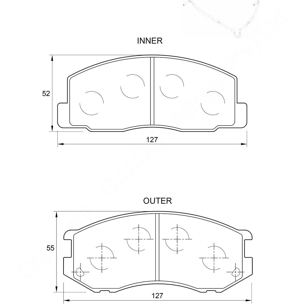 KBC Brake Pads (front) for Toyota Stallion,Toyota Venture 1