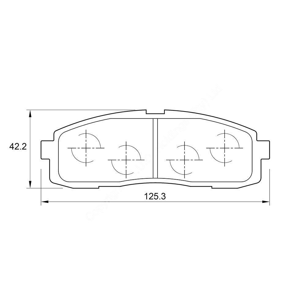 KBC Brake Pads (rear) for Toyota Cressida 1