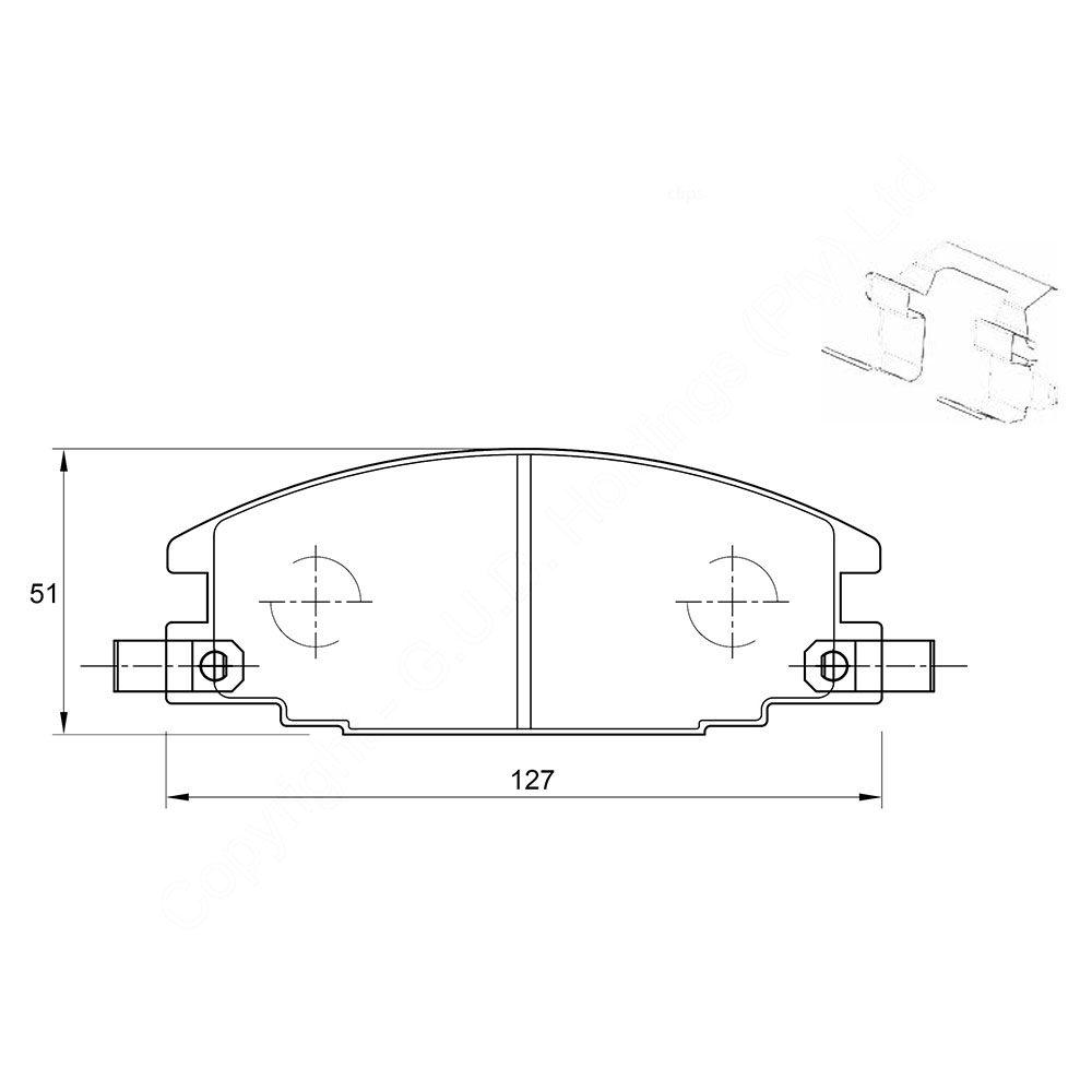 KBC Brake Pads (front) for Isuzu 1