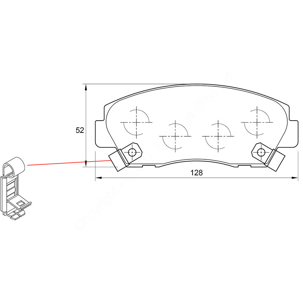 KBC Brake Pads (front) for Ford Courier,Ford Explorer,Mazda ,Ford Courier 1