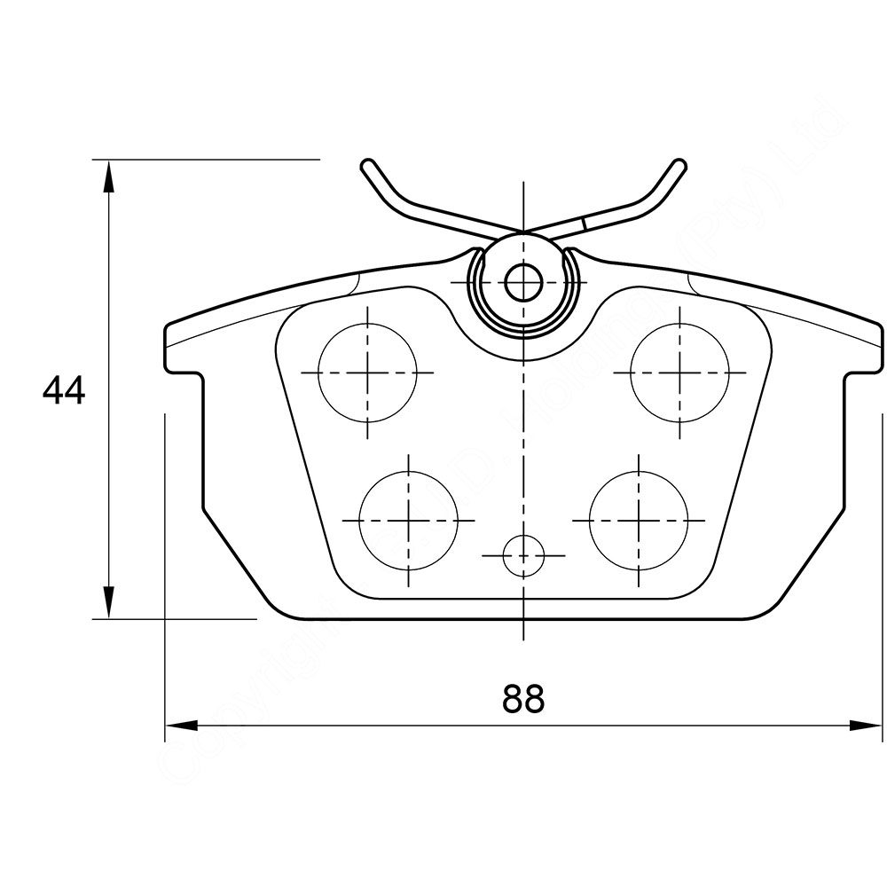 KBC Brake Pads (rear) for Alfa ,Fiat 1