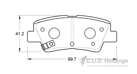 KBC Brake Pads (Rear) for Hyundai, Kia, Ssangyong 1