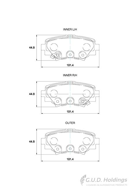 KBC Brake Pads (rear) for Mazda 3 1
