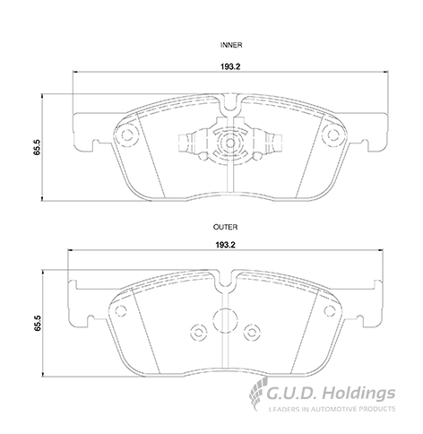 KBC Brake Pads (front) for Jaguar, Land Rover 1