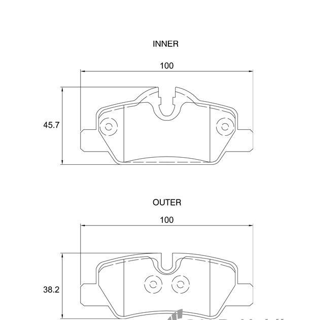 KBC Brake Pads (Rear) for Mini 1