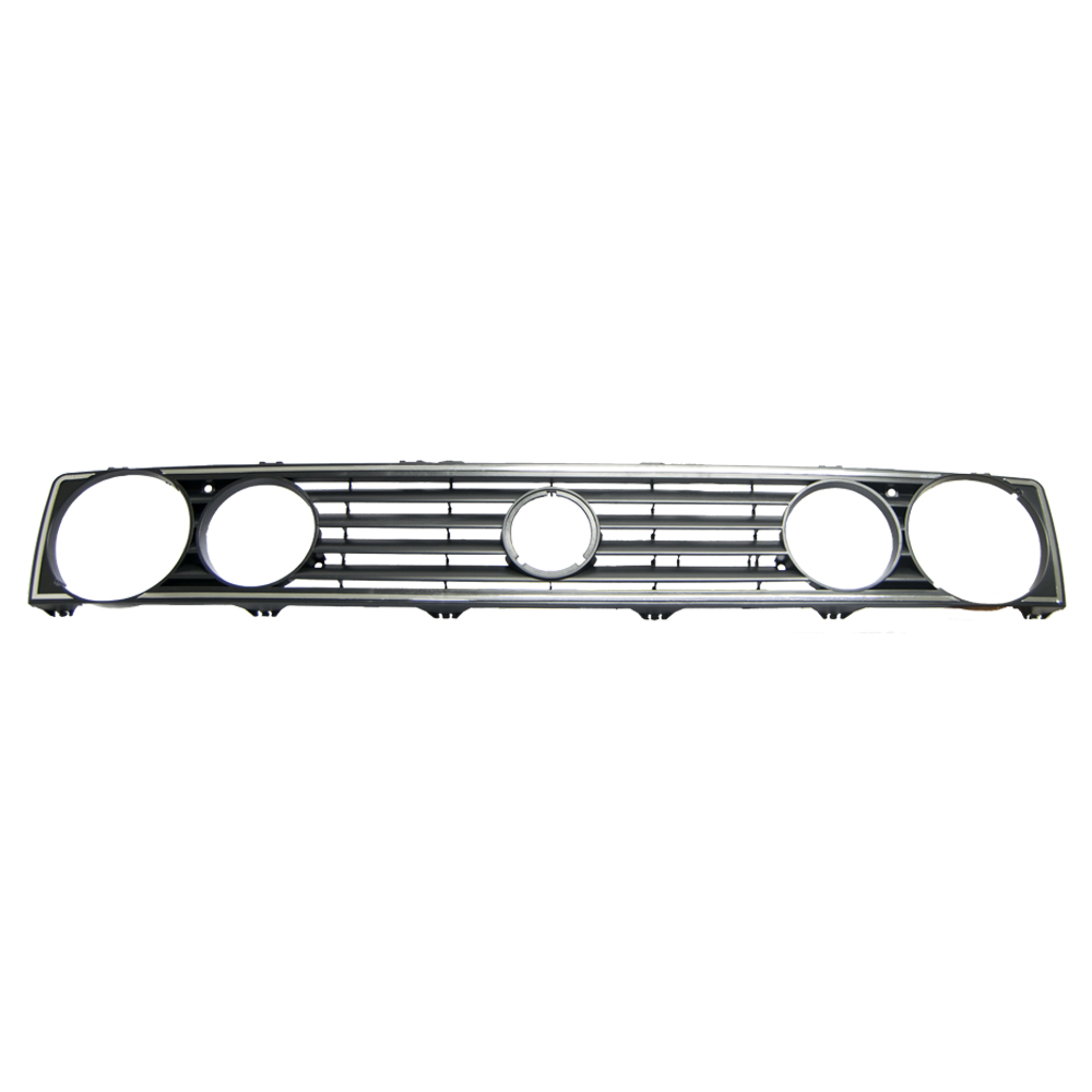 VW Golf 1 Grille with Silver Trim Double Light Hole 1