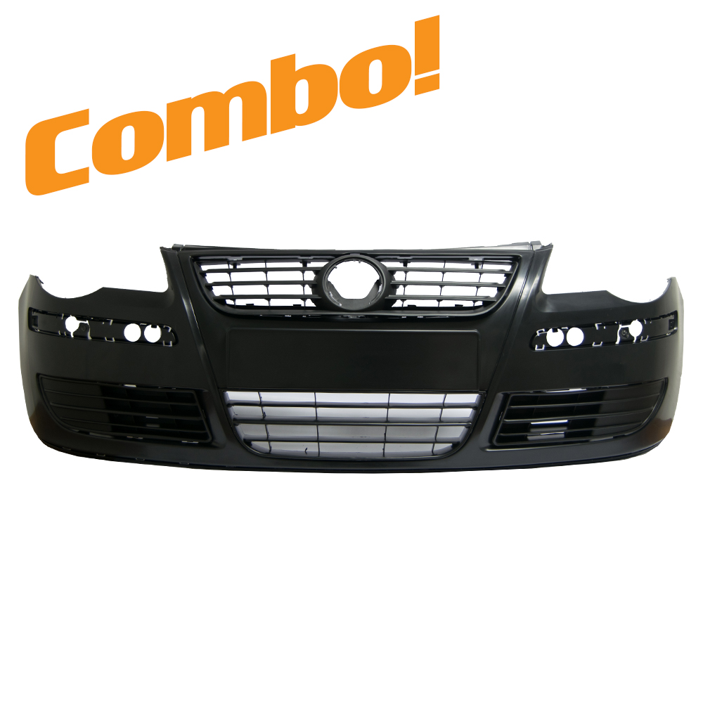 VW Polo 9n3 (Bujwa) Front Bumper 05-09 Combo (No fog holes) 1