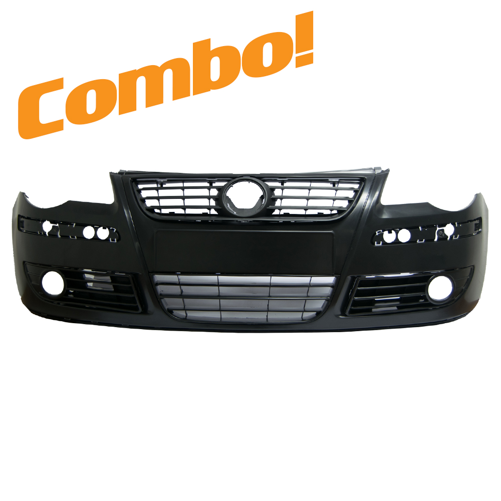 VW Polo 9n3 (Bujwa) Front Bumper 05-09 Combo (With fog holes) 1