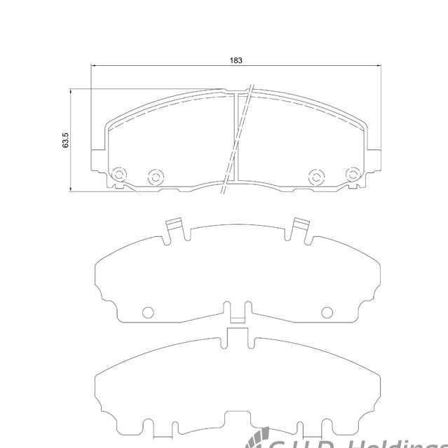 KBC Brake Pads (Front) for Chrysler, Dodge 1