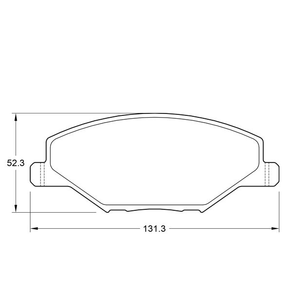 KBC Brake Pads (Front) for VW Polo 1