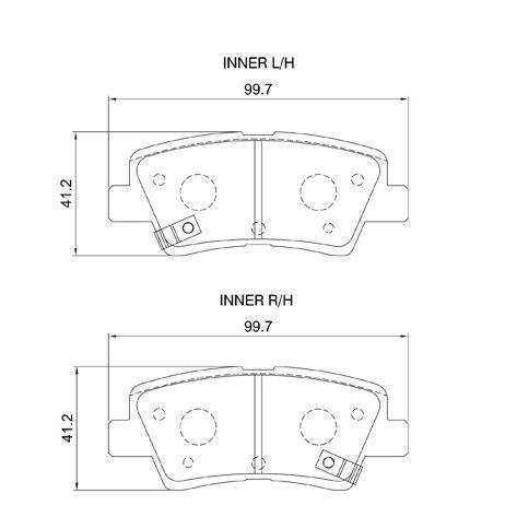 KBC Brake Pads (Rear) for Hyundai, Kia 1